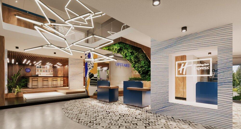 Koncepcja modernizacji hotelu Huzar w Lublinie, zaprezentowana przez pracownię KM Rubaszkiewicz. Obiekt będzie dostosowany do standardów marki Holiday Inn Express