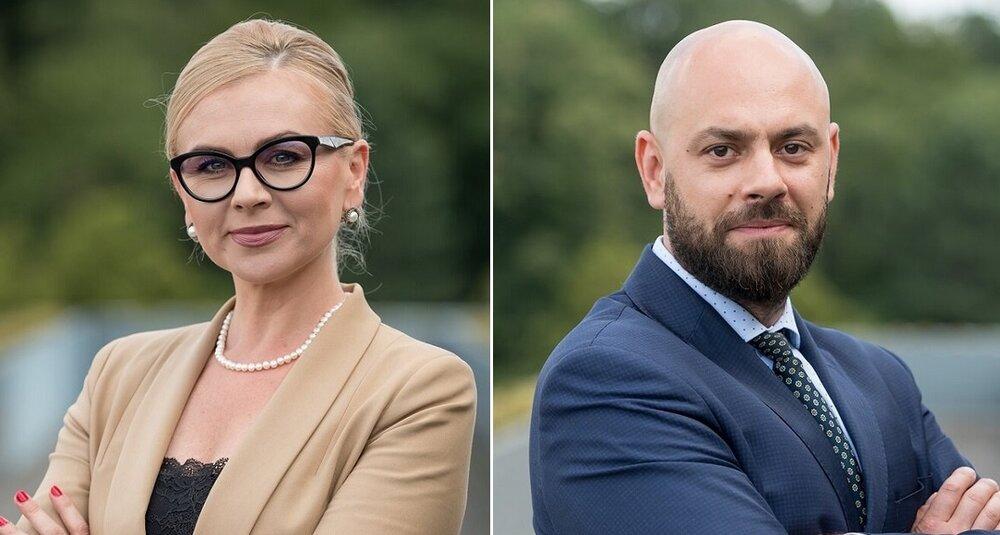 Magdalena Piasecka i Jakub Grudniewski (obecny prezes zarządu Wrocławskiego Przedsiębiorstwa Hala Ludowa Sp. z o.o.)