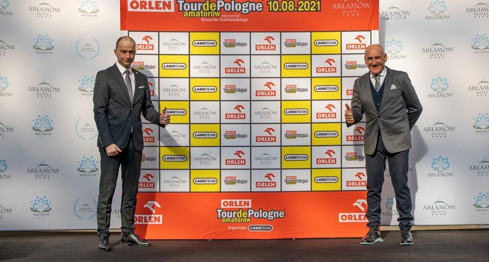 Michał Kozak, prezes Hotelu Arłamów, i Czesław Lang, dyrektor generalny Lang Team, organizator Tour de Pologne
