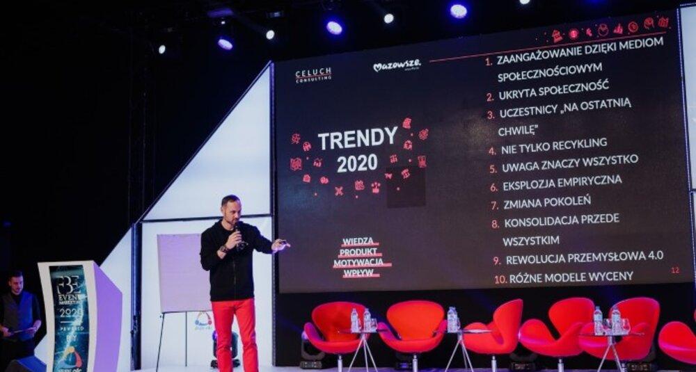 """Raport """"Trendy 2020"""" opracowany przez Krzysztofa Celucha swoją premierę miał podczas piątej edycji Forum Branży Eventowej. fot. Ewa Witak"""