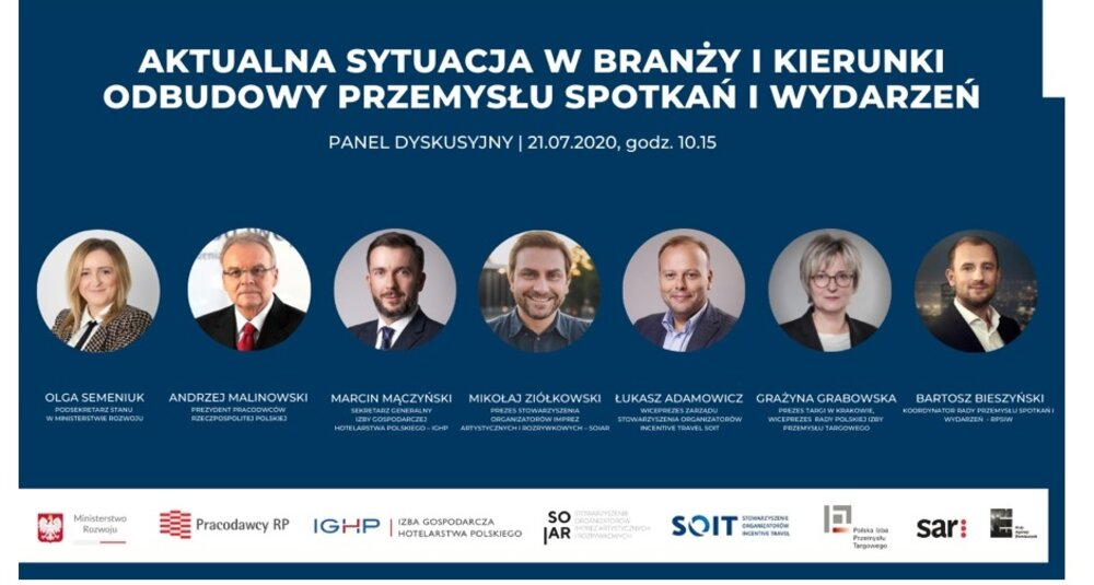 21 lipca odbędzie się dyskusja poświęcona przyszłości przemysłu spotkań oraz podpisanie deklaracji założycielskiej Rady Przemysłu Spotkań i Wydarzeń