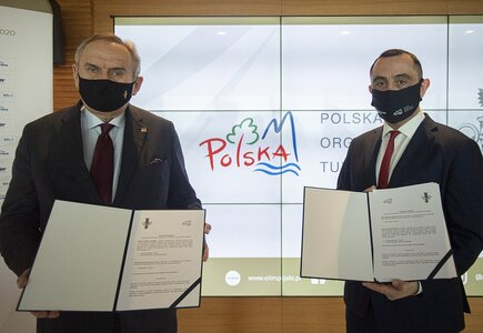 Andrzej Kraśnicki, prezes PKOl, i Rafał Szlachta, prezes POT