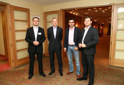 od lewej: Piotr Cieślak (Meeting Planner), Cezary Wilemajtys (United Partners), Krzysztof Gawrych, Paweł Netczuk (Mediarun)