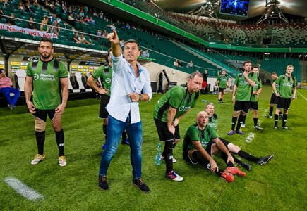 Robert Podoliński i Drużyna Klientów podczas MP Legia Cup 2016