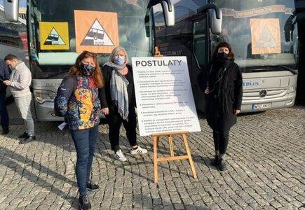 Postulaty branży autokarowej i turystycznej w Warszawie. fot. Alina Dybaś, Turystyczna Organizacja Otwarta