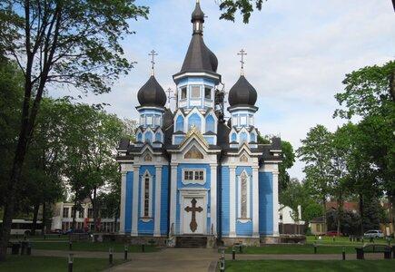 """Cerkiew Ikony Matki Bożej """"Wszystkich Strapionych Radość"""" w Druskiennikach. fot. Piotr Jaworski"""