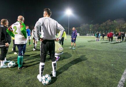 Drużyna Klientów podczas treningu przed MP Legia Cup 2017. fot. Robert Szarapka