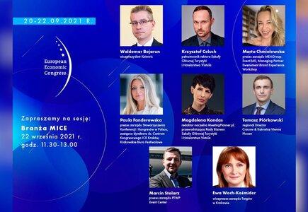 Europejski Kongres Gospodarczy w Katowicach: czestnicy sesji pt. Branża MICE