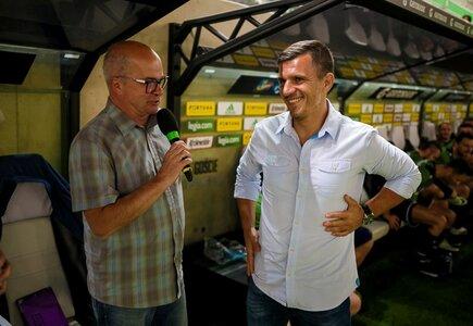 Po wygranym meczu. Robert Podoliński w rozmowie z Tomaszem Zimochem