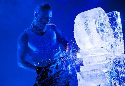 Ostre Cięcie Adam Pieśniewski, rzeźby w lodzie