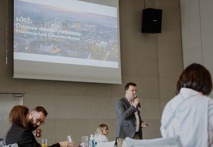 Eventową ofertę Łodzi przedstawił Tomasz Koralewski, Łódź Convention Bureau