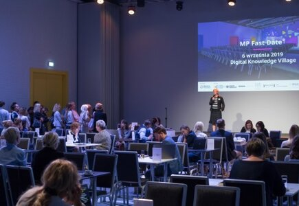 Monika Nowacka-Sahin, dyrektor zarządzająca Digital Knowledge Village - powitanie gości