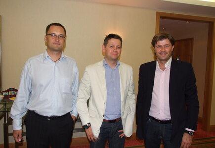 od lewej: Piotr Cieślak (Meeting Planner), Paweł Netczuk (Mediarun), Michał Czerwiński (In Dreams)