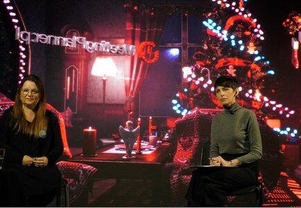 Spotkanie odbyło się w świątecznym studiu zaaranżowanym przez firmy Eventroom i Kameleon